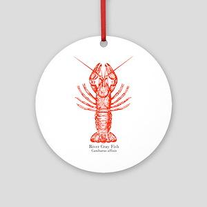 River Crayfish Ornament (Round)