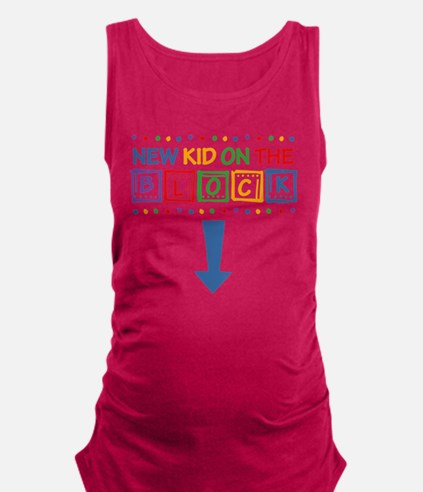 New Kid On The Block Mom Maternity Tank Top (dark)