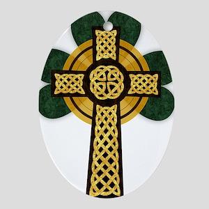 Celtic Cross Oval Ornament