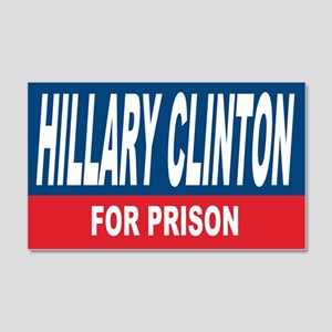 Hillary Clinton for Prison 2016 Wall Decal
