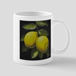 Leafy Hanging Lemons Mugs