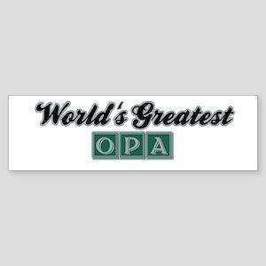 World's Greatest Opa (3) Bumper Sticker