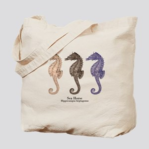 Sea Horse Vintage Art Tote Bag
