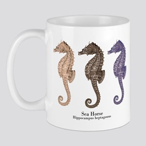 Sea Horse Vintage Art Mug