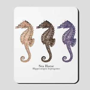 Sea Horse Vintage Art Mousepad
