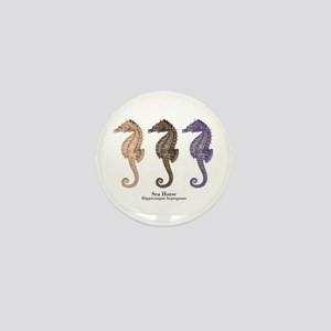 Sea Horse Vintage Art Mini Button