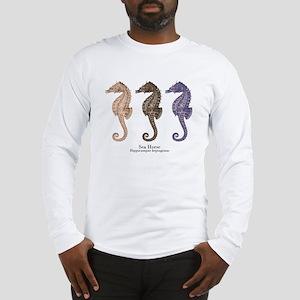 Sea Horse Vintage Art Long Sleeve T-Shirt