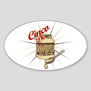 Cinco De Mayo Mayonnaise Oval Sticker