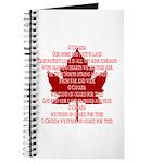 Canada Anthem Souvenir Journal / Notebook