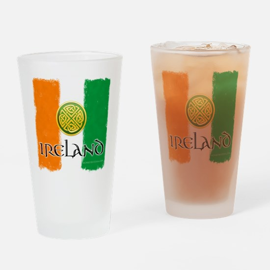 Irish Celtic Flag.png Drinking Glass