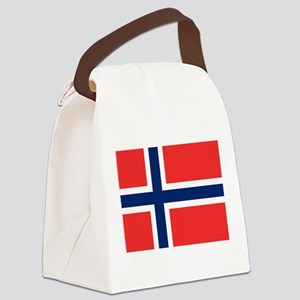 Flag of Norway - Norges flagg - D Canvas Lunch Bag