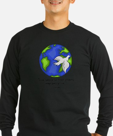 World Gandhi - Live Simply Long Sleeve T-Shirt