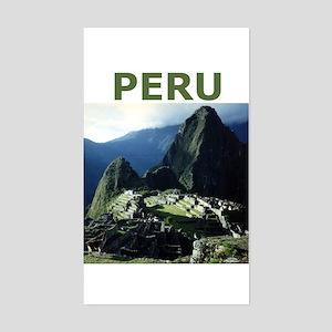 PERU Rectangle Sticker