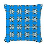 Crappie six star Woven Throw Pillow