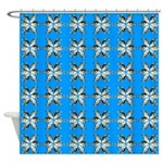 Crappie six star Shower Curtain
