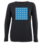 Crappie six star Plus Size Long Sleeve Tee
