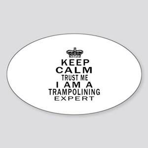 Trampolining Expert Designs Sticker (Oval)