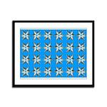 Crappie six star Framed Panel Print