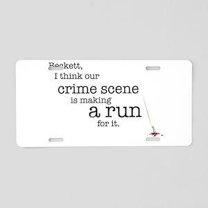 Crime scene is making a run for it. Aluminum Licen