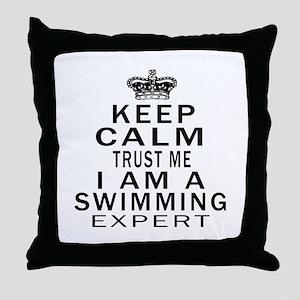 Swimming Expert Designs Throw Pillow