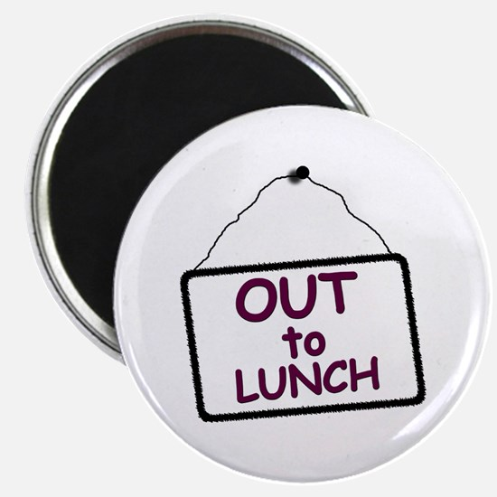 Out To Lunch Sign Magnet