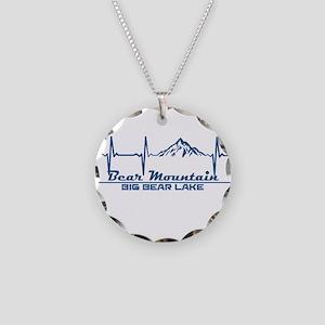 Bear Mountain - Big Bear L Necklace Circle Charm