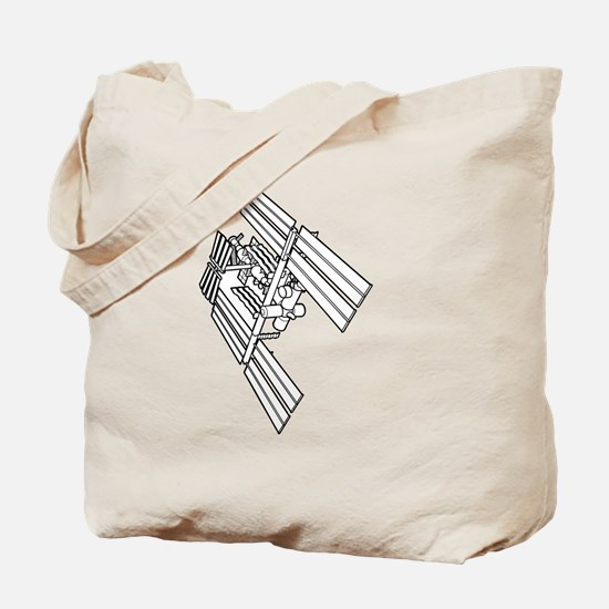Cute International space station Tote Bag