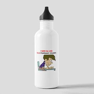 No Life Pharm Stud Water Bottle