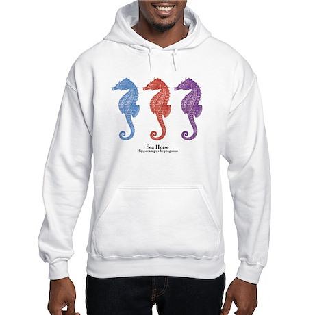 Sea Horse Vintage Art Hooded Sweatshirt