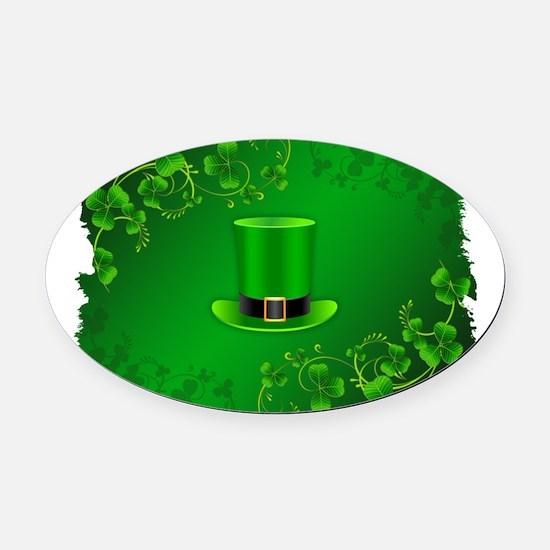 St Patricks Day New Large Wallpape Oval Car Magnet