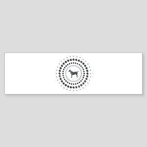 Dog Chrome Studs Sticker (Bumper)