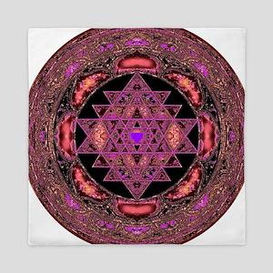 Lakshmi Yantra Mandala- Rose Queen Duvet