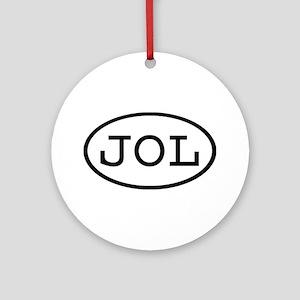 JOL Oval Ornament (Round)