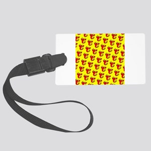 Red Yellow Lobster 4Gerry Large Luggage Tag
