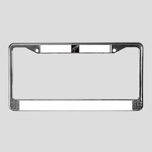 Lightening Violin License Plate Frame