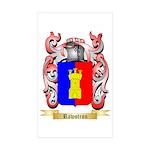 Rawstron Sticker (Rectangle 50 pk)