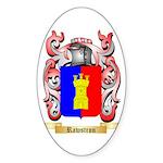 Rawstron Sticker (Oval 10 pk)