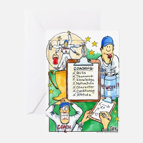 Cute Thanks coach Greeting Cards (Pk of 20)