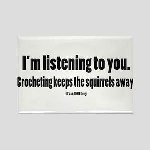 Crochet squirrels black Magnets