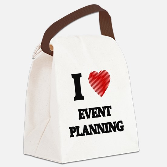 I love EVENT PLANNING Canvas Lunch Bag