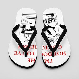 hot dog Flip Flops