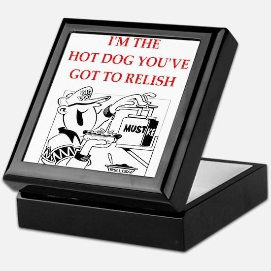 hot dog Keepsake Box