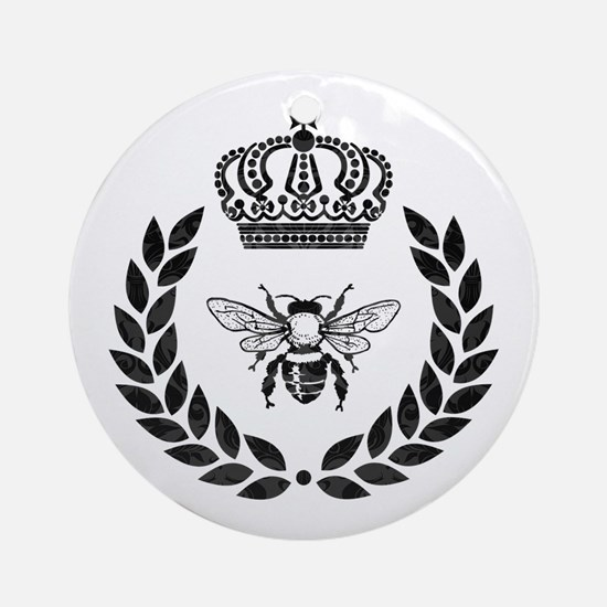 THE FRENCH BEE Round Ornament