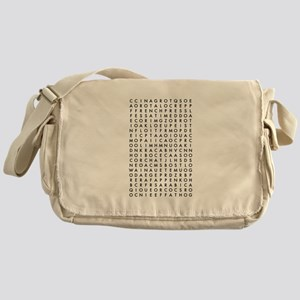 coffee word search Messenger Bag