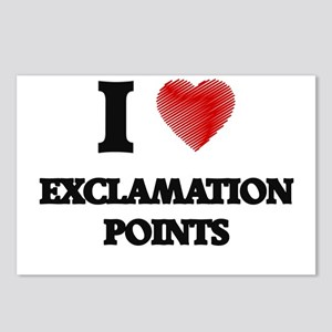I love EXCLAMATION POINTS Postcards (Package of 8)