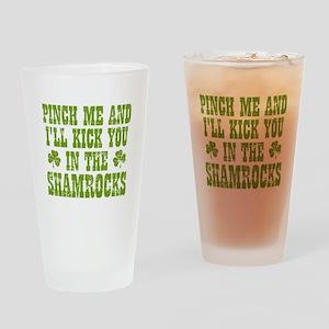 Shamrocks Drinking Glass