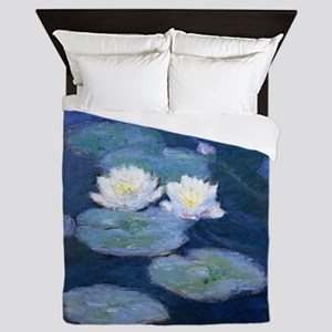 Two Water Lilies Monet Queen Duvet