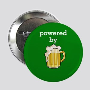 """Powered By Beer 2.25"""" Button"""