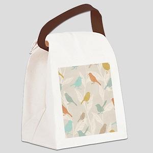 Pretty Birds Canvas Lunch Bag