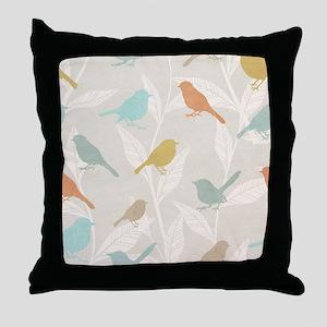 Pretty Birds Throw Pillow